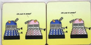 Daleks Set of Four Funny Table Coasters